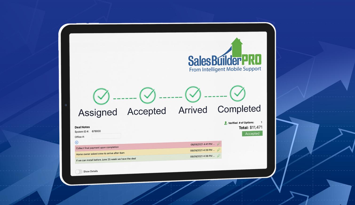 SalesBuilder Pro on an iPad