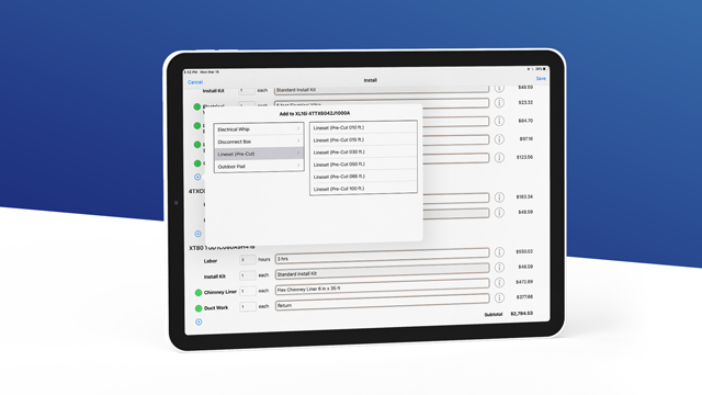 Automated bill-of-materials feature in Install Manager Pro